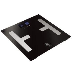 Ψηφιακή Ζυγαριά Μπάνιου για Υπολογισμό Λίπους και Δείκτη Μάζας Σώματος έως 150Kg από Γυαλί Carbon PRO Edition Berlinger Haus
