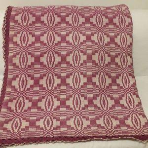 Κουβέρτα υφαντή αργαλειού ολόμαλλη μωβ