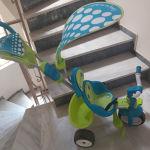 τρικυκλο ποδηλατακι με μετακινησιμη λαβη για γονεις