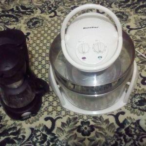 Επωνυμες καινουργιες συσκευες αξιας 115€ πολυλειτουργικο φουρνακι Whirlpool 1500WATT 4 σε 1 διπλης χωρητικοτητας δωρο καφετιερα Delonghy λογο μετακομισης στην πολυ χαμηλη συμβολικη τιμη 30€