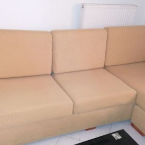 Γωνιακός τριθεσιος καναπές + πολυθρόνα