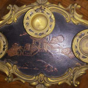 Louis XV Chinese ormolu inkstand. Κινέζικο μελανοδοχείο 18ος αιώνας