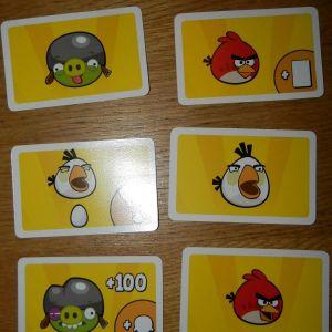 6 καρτες angry birds