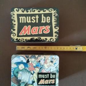 2 τσιγκινα κουτιά Mars