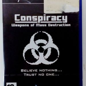 CONSPIRACY WEAPONS OF MASS DESTRUCTION PS2 PLAYSTATION 2 TWO PAL