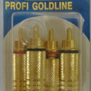 BANDRIDGE PG-1213(Cable Διάμετρος 6 mm)Phono Plug -GOLD (2 X BLACK + 2 X RED)