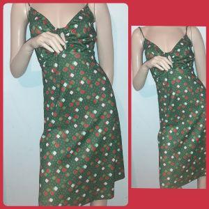 πράσινο βινταζ Μίντι φορεμα