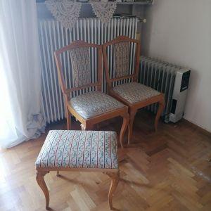 Καρεκλες vintage και σκαμπό