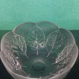 Μεγάλη κρυστάλλινη φρουτιερα/ μπολ με μοτίβου φύλλων Kosta Boda