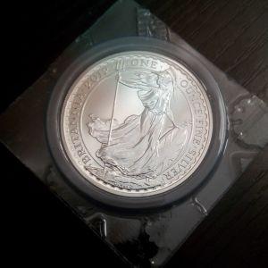 "1 oz 2012 Royal Mint Britannia £2 Two Pound Silver Coin Bullion BU """