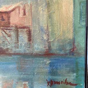 Μύκονος, Βενετία - Λάδι σε κόντρα πλακέ