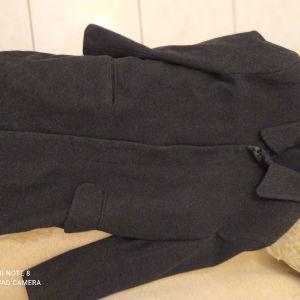 Μάλλινο παλτό από virgin wool και κασμηρι