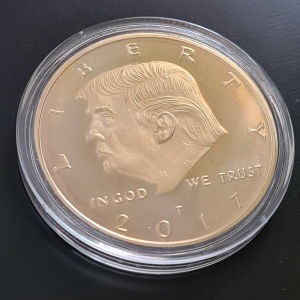 trump 2017 gold plated coin 40mm