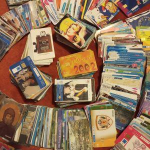 Συλλογή 700 τηλεκαρτες από 1996 ως 2014