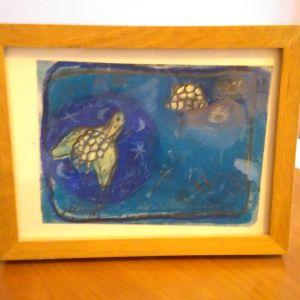 Πίνακές μικροί σε καδράκια ζωγραφισμένοι handmade