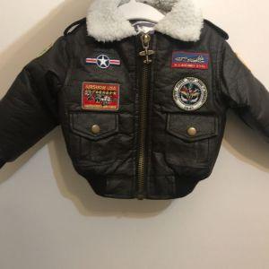 Παιδικό Δερμάτινο Μπουφάν /Aviator Jacket  (12+ months)