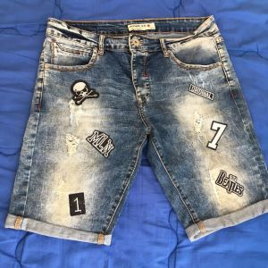 Adrexx patches jean shorts