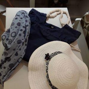 Γυναικεία τσάντα Ηn M σετ - δώρο πάρεο και καπέλο. Όλα μαζί ΣΟΎΠΕΡ ΤΙΜΉ ΜΌΝΟ !!