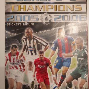 """Άλμπουμ """"Europe's Champions 2005-2006"""" (Golden Shop) με 270+ αυτοκόλλητα"""