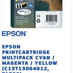 EPSON μελανια σφραγισμενα XL T1306 Multipack, BLACK 27XL και 27XL Yellow