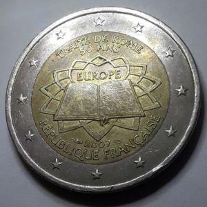 """Επετειακό 2 ευρω Γαλλία 2007 """" 50 Χρόνια από την Συνθήκη της Ρώμης"""""""