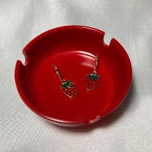 χειροποίητα σκουλαρίκια φράουλες