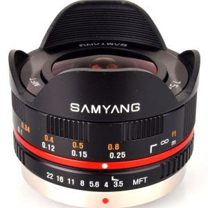 Samyang 7.5mm T3.5 UMC Fish-eye (Micro Four Thirds (MFT) Black