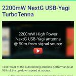 2200mW High Power USB-Yagi wifi Antenna 18dbi με ενισχυτή +35db με πιστοποιηση CE