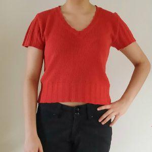 Κοκκινη κοντομανικη μπλουζα