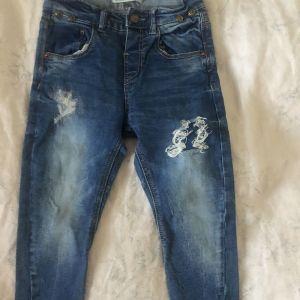 Μπλε τζιν με τιράντες Zara - blue ripped jean