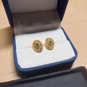 βυζαντινά σκουλαρικια 18Κ
