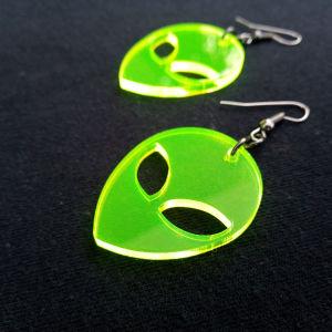 Σκουλαρίκια ακρυλικά alien
