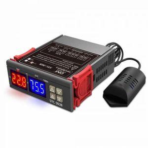 Ελεγκτής θερμοκρασίας και υγρασίας θερμοστάτης humidistat ηλεκτρονική ψηφιακή τιμή Αισθητήρας υγρασίας 220V STC 3028