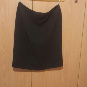 Κλασσικη φουστα μαυρη four seasonns μεγαλο μεγεθος 54