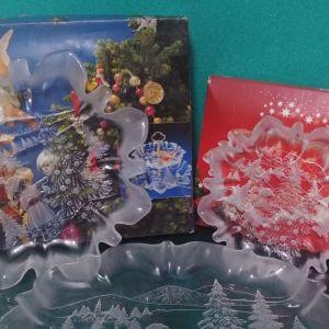 Συλλογή: χριστουγεννιάτικα πιάτα Mikasa Crystal/ Walther Glas,  Germany 1990.