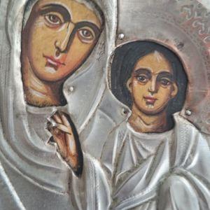 Παλιά ξύλινη ρωσική ζωγραφιστη εικόνα..