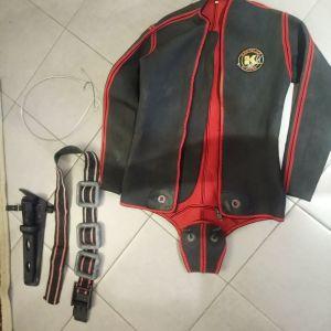 σακακι για ψαραντουφεκο με βαριδια και οπλο