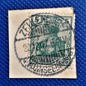 Γραμματόσημα. ΓΕΡΜΑΝΙΚΗ ΣΦΡΑΓΙΔΑ 22- 12 -1907 ΠΟΛΥ ΣΠΑΝΙΑ, ZEHLENDORF