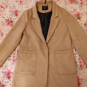 Παλτό σε χρώμα ανοιχτό καφέ