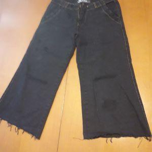 παντελόνα τζιν κροπ μαύρη