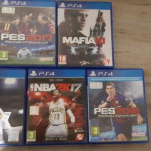 Ps4 Games(mafia lll, PES 17, PES 18 ,NBA 17, FIFA 18)