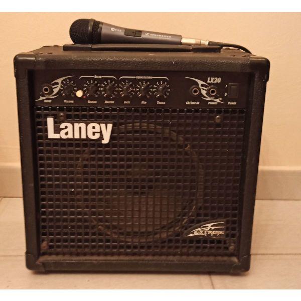 enischitis Laney (Amplifier) ilektrikis kitharas + kalodio + mikrofono Seinheisser