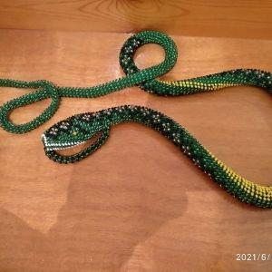 διακοσμητικό φίδι από χάντρες