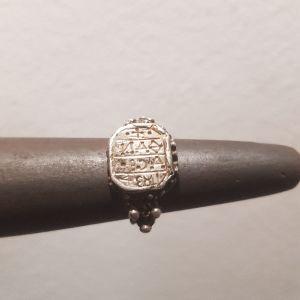 ασημένιο δαχτυλίδι αντίκα