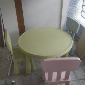 παιδικό σετ τραπέζι με 3 καρέκλες
