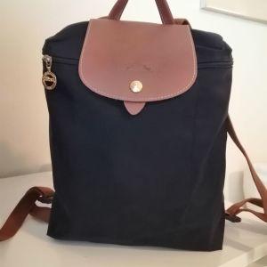 Τσάντα πλάτης LONGCHAMP LE PLIAGE μαύρη αυθεντική
