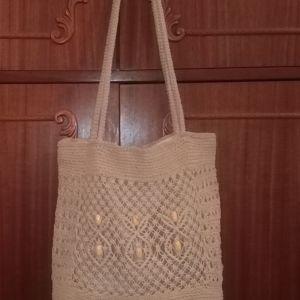 Κεντημένη Άσπρη Τσάντα