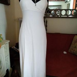 Λευκό ελαστικό φόρεμα MORGAN Medium