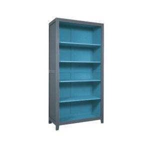 Βιβλιοθήκη Laurette σε χρώμα γκρι και μπλε