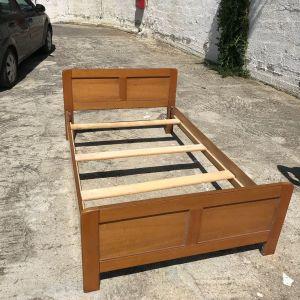 Κρεβάτι Ημίδιπλο Ξύλινο 120cm*200cm